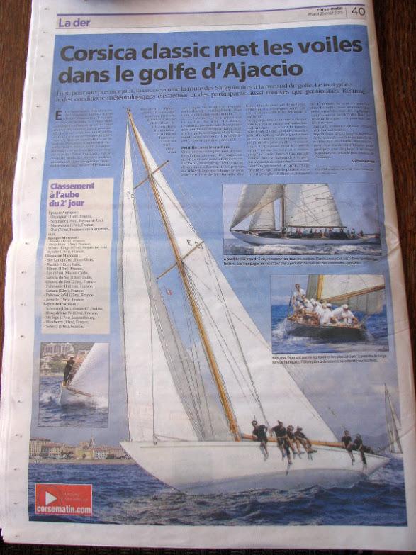Articol în cotidianul local, Corse Matin