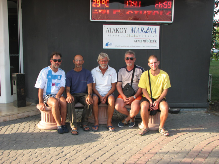 Echipajul lui Bananec Blues. De la stânga la dreapta: Mugurel, Dorin, Constantin, Alin și Marco