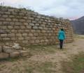 Perete la siteul arheologic Tumshukayko