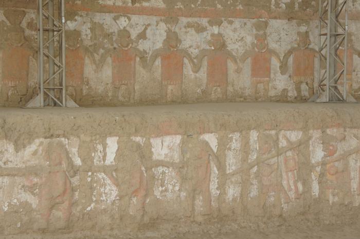 Huaca de la Luna - detaliu perete