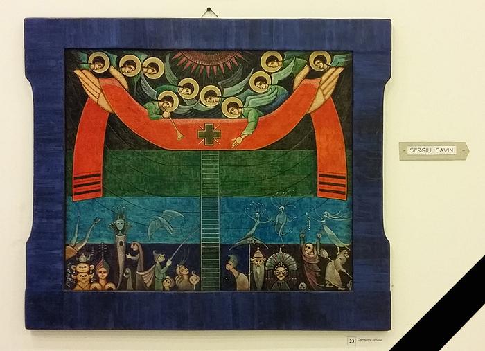 Sergiu Savin - Chemarea la cer (pictura)